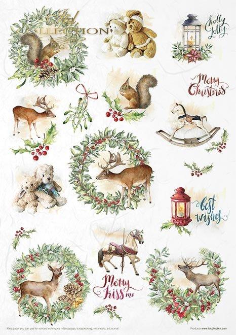 Conjunto creativo en papel de arroz - Maravilloso tiempo de Navidad*Kreativset auf Reispapier - Wunderbare Weihnachtszeit*Творческий набор на рисовой бумаге - Wonderful Christmas Time