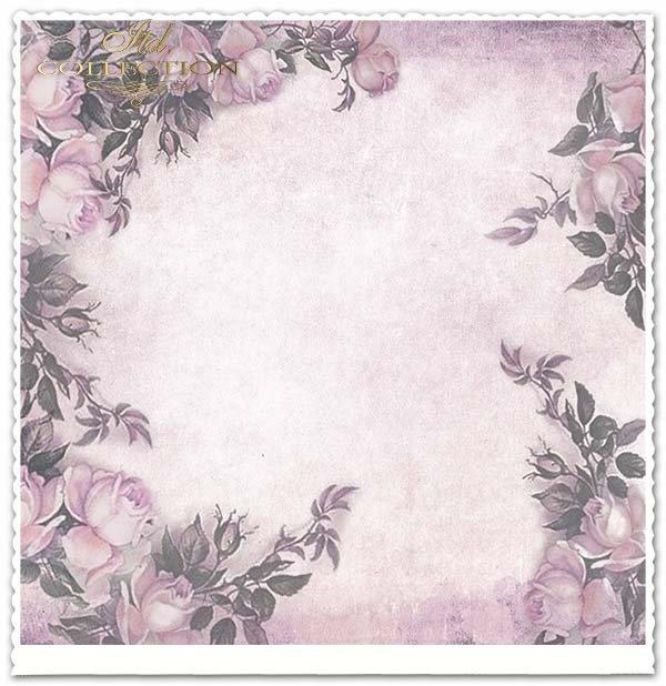 papier do scrapbookingu kwiaty, Róże, Vintage*Paper for scrapbooking flowers, roses, vintage