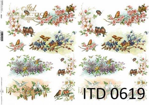 Papier decoupage ITD D0619