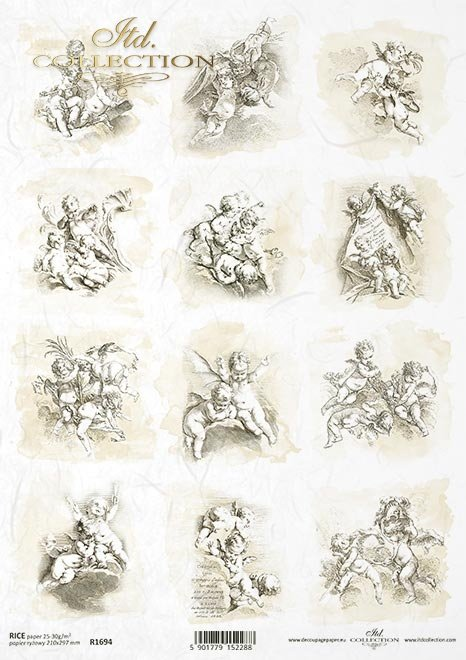 Gabriel Huquier, Pierre Alexandre Aveline, Amor, anioł, aniołki, cherubinek, Kupidyn, Putto, Rokokowy cherubinek, Barokowy Kupidyn