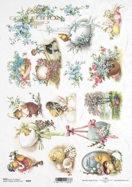 Easter, spring, flowers, retro, eggs, Easter, Easter eggs, chicken, chicken, R490