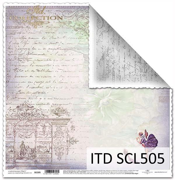 Papier scrapbooking SCL505