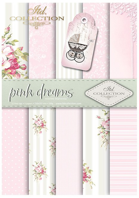 SCRAP-041 'pink dreams' scrapbooking papers set * zestaw papierów do scrapbooking 0