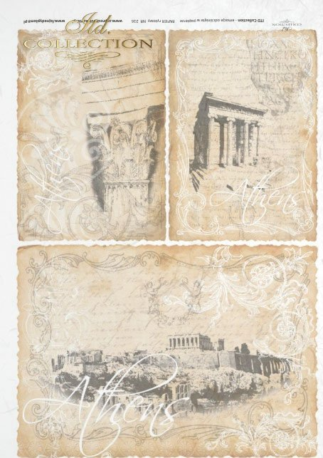 ancient Greece, monuments, Athens, old postcards, interesting background,