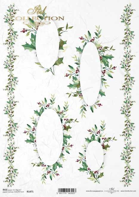 Navidad, patrones para pañuelos, decoraciones*Weihnachten, Muster für Taschentücher, Dekore*Рождество, узоры для носовых платков, декоров