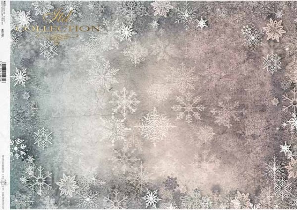 Papel decoupage Navidad copos de nieve, papel tapiz para mix-media*Decoupage Papier Weihnachtsschneeflocken, Tapete für Mix-Medien*Декупажская бумага Рождественские снежинки, обои для микс-медиа