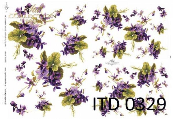 Papier decoupage ITD D0329