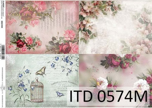 papier do decoupage z kwiatami*Paper to decoupage with flowers