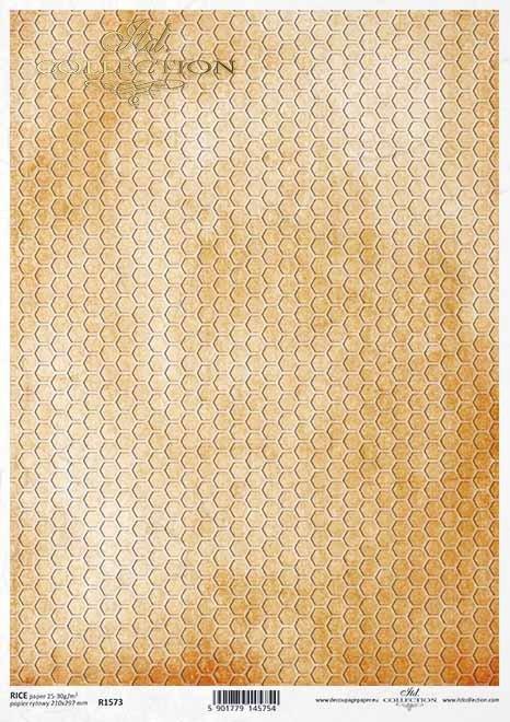 Fondo decoupage papel amarillo, nido de abeja*Gelber Hintergrund Decoupagepapier, Bienenwabe*Декупаж из бумаги желтый фон, соты