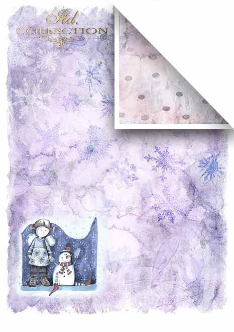 Scrapbooking papeles en sets - Ángeles y copos de nieve*Скрапбукинг бумаги в наборах - Ангелы и снежинки