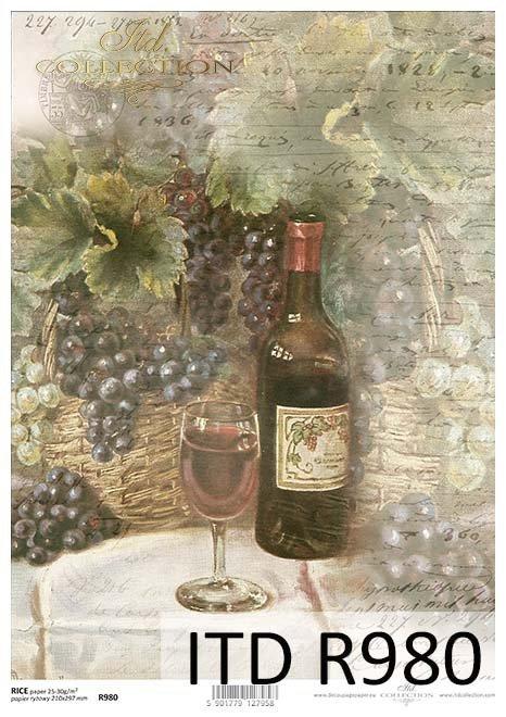 winogrona, winogrono, wino, butelka, kieliszek, winne grona