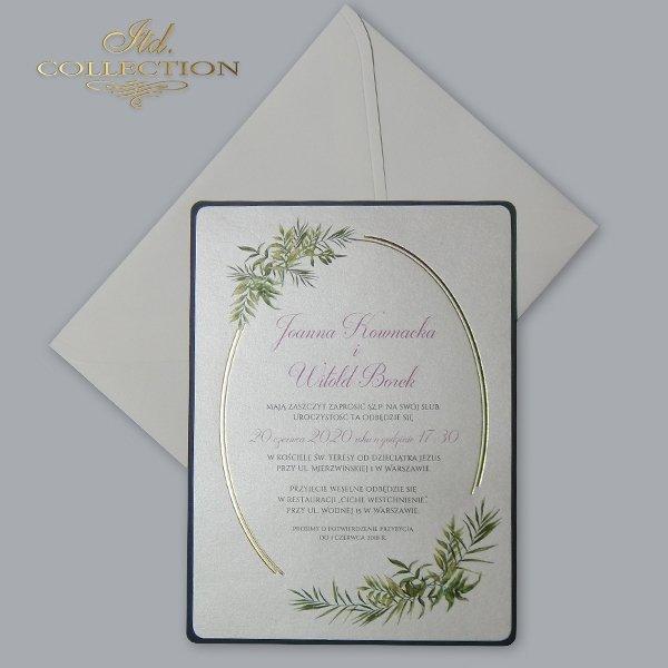 Zaproszenie 2073*Zaproszenia ślubne*zaproszenia na ślub*zaproszenia weselne*zaproszenia z kwiatami*eleganckie zaproszenia