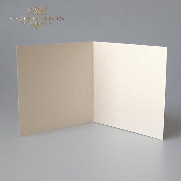 Baza do kartki BDK-027 132x132 mm * jasnokremowa opalizująca