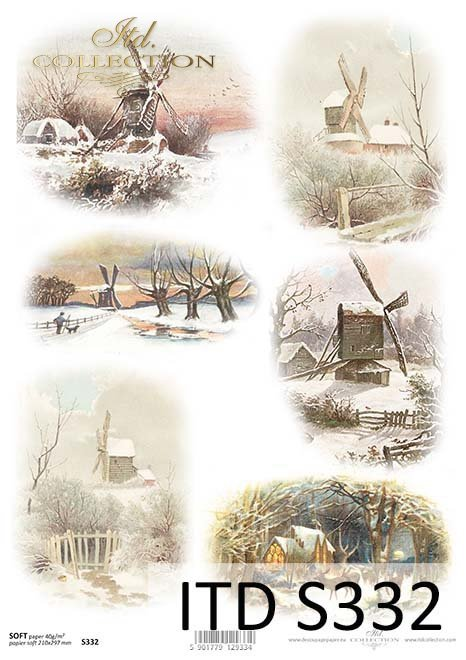 Papier decoupage świąteczny, zima*The paper decoupage festive, winter