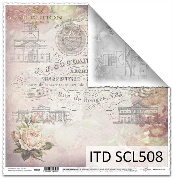 Papier scrapbooking SCL508