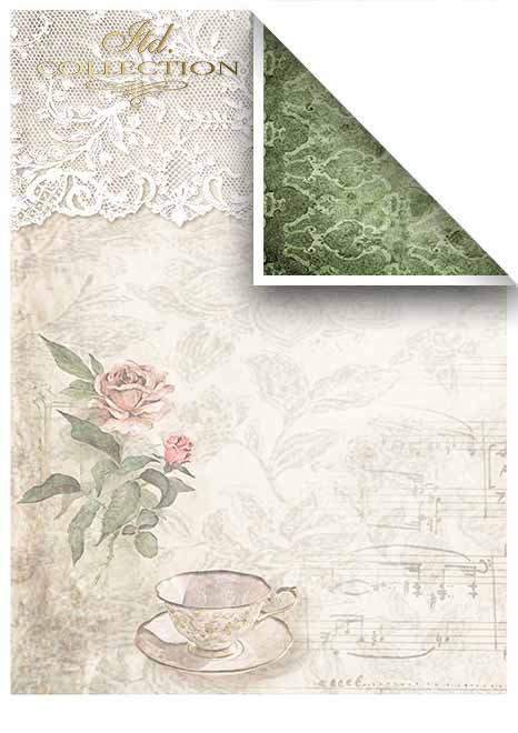 Papiery do scrapbookingu w zestawach - Koronkowe marzenia*Papers for scrapbooking in sets - Lace dreams