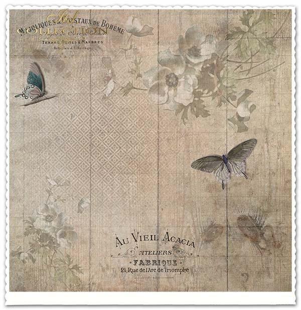 papier do scrapbookingu kwiaty*Paper for scrapbooking flowers