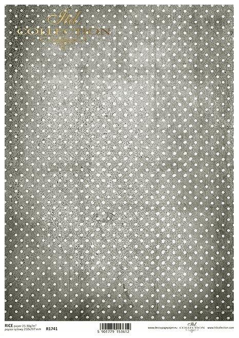Vintage, kropki, kropeczki, szare tło w kropki, grafit, stalowe