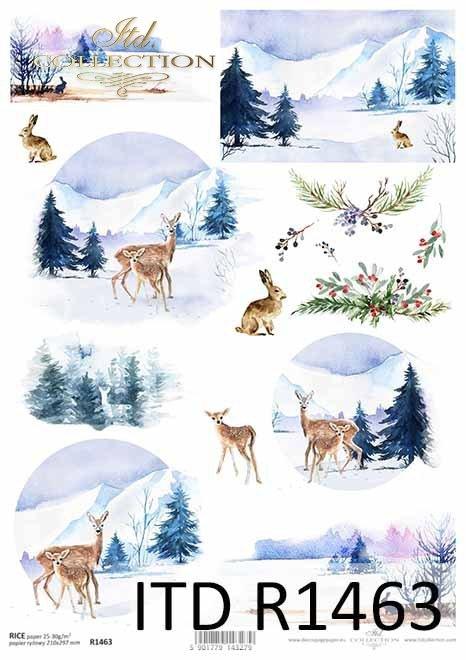 Boże Narodzenie, zimowe widoczki, zwierzęta*Christmas, winter views, animals