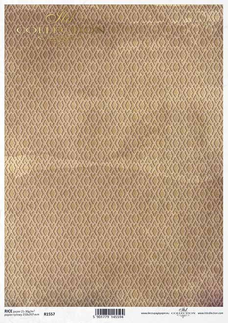 Papel decoupage marrón-amarillo, fondo miel*Decoupagepapier braun-gelb, Honighintergrund*Декупаж из бумаги коричнево-желтый, медовый фон