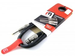 Red's Music MC1230 - kabel mikrofonowy XLR-Jack 3m