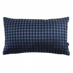 Granatowa poduszka w pepitkę