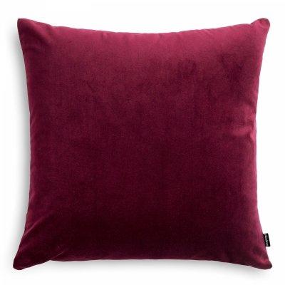 Velvet bordowa poduszka dekoracyjna 45x45
