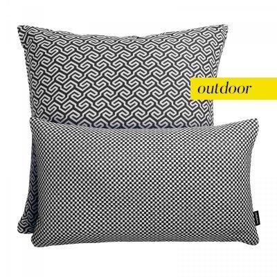 Czarno-biały zestaw poduszek ogrodowych