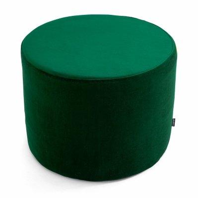 Ciemno zielona pufa welurowa 45x35