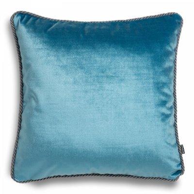 Błękitna poduszka dekoracyjna Glamour