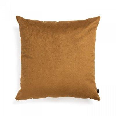 Pram jasno brązowa welurowa poduszka dekoracyjna 45x45 cm