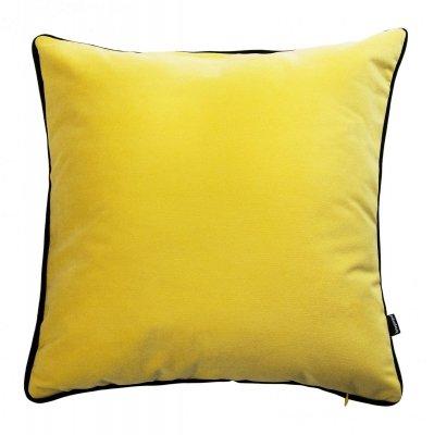 Żółta poduszka dekoracyjna z lamówką 45x45 cm