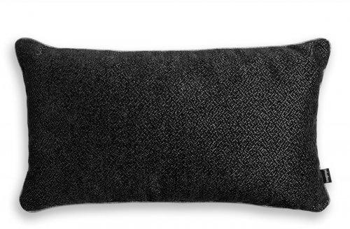 Alaska czarna błyszcząca poduszka dekoracyjna 50x30