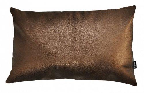 Skórzana poduszka Spark miedziana 50x30