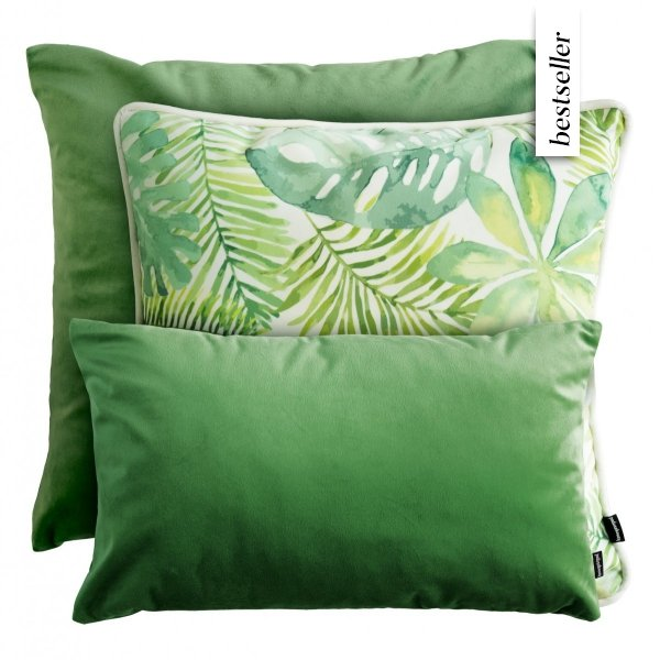 Zielony zestaw poduszek dekoracyjnych Liście