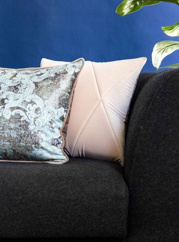 Miętowo-beżowa poduszka dekoracyjna Gold 40x40
