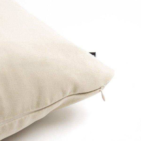 Pram Kremowa welurowa poduszka dekoracyjna 45x45 cm