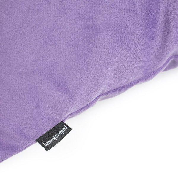 Pram fioletowa welurowa poduszka dekoracyjna 45x45 cm