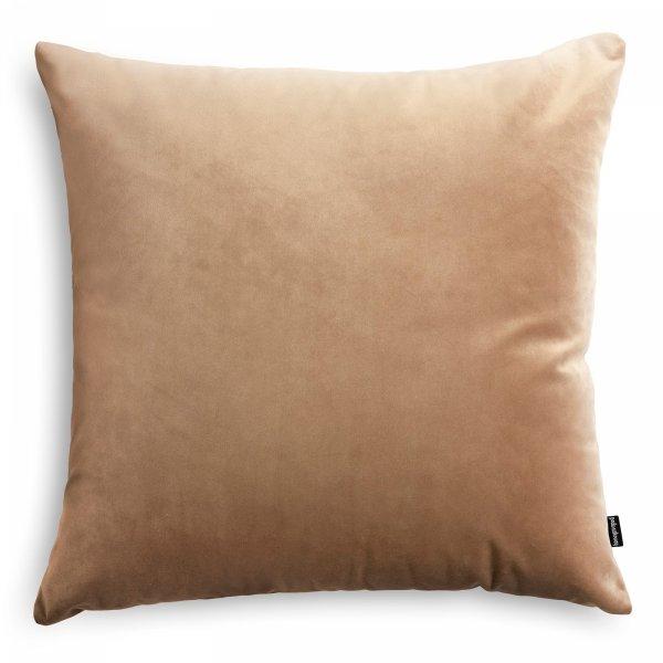 Velvet jasno beżowa poduszka dekoracyjna 45x45