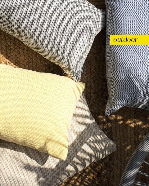 Szara poduszka ogrodowa Malmo 50x30