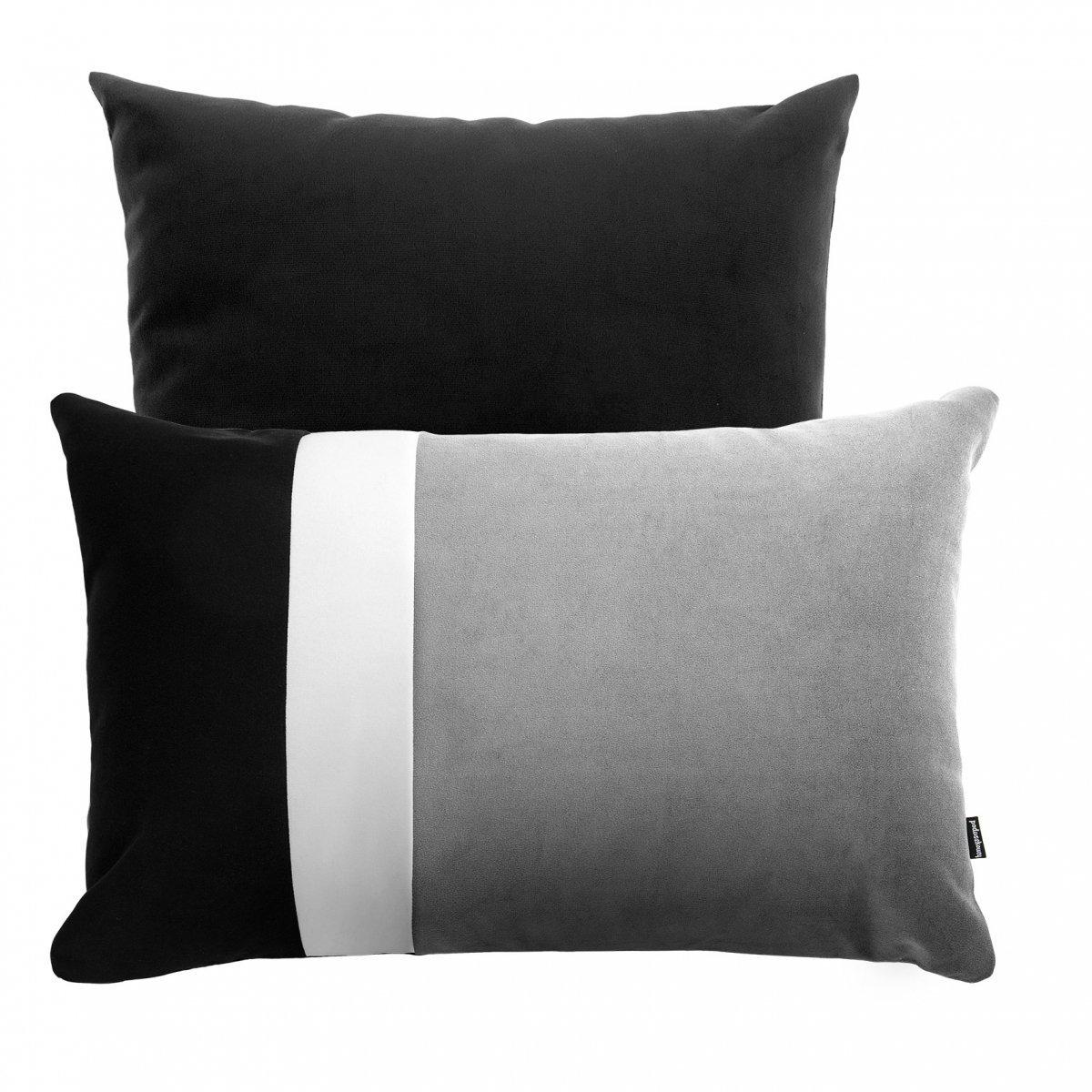 Szaro czarny zestaw poduszek dekoracyjnych Pram