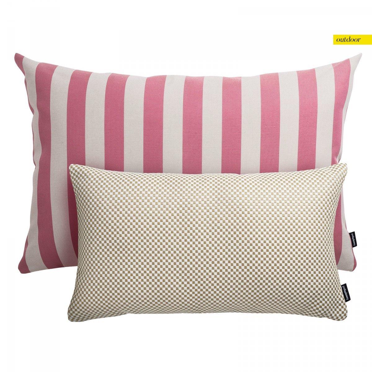 Zestaw poduszek ogrodowych różowe pasy