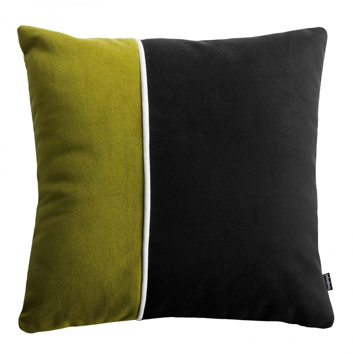 Pram S zielona welurowa poduszka dekoracyjna 40x40 cm
