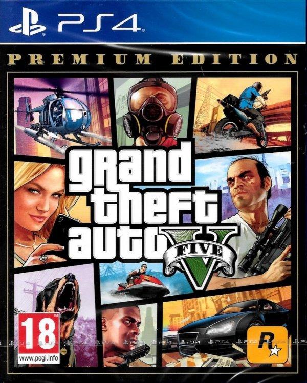 GTA V GRAND THEFT AUTO V 5 PREMIUM EDITION PL PS4