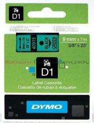 DYMO D1 Taśma 9mm/7m Czarno/Zielona