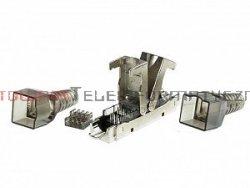 Łącznik kabla SLIM kat. 6a/7, FTP, metalowy, beznarzędziowy