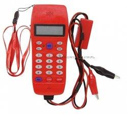 Telefon analogowy monterski LCD,
