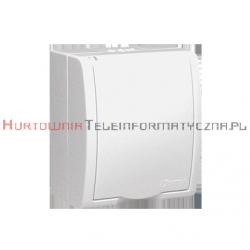KONTAKT SIMON Aquarius gniazdo elektryczne natynkowe 1x230 IP54 z przesłoną torów prądowych, klapka biała