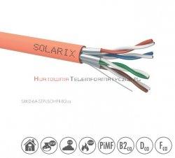 SOLARIX kabel U/FTP, drut, LSOHFR B2ca, pomarańczowy kat.6A - 500m