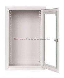 SABAJ Szafa 10 wisząca, 6U 300, drzwi metal/szkło, szara